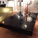 Grande Table Basse Années 70 Laquée Noir