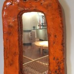 Miroir en céramique de Juliette Derel