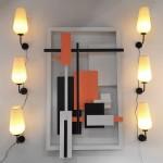 Série de 6 Appliques en Rotaflex de Pierre Disderot
