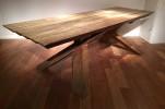 Rare et importante table de Dominique Zimbacca, Production Pierre Chapo