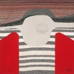 Tapisserie « Graphisme rouge gris » de Danièle Raimbault-Saerens