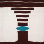 Tapisserie « Graphisme turquoise » de Danièle Raimbault-Saerens