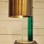 Grande Lampe en Plexi et Laiton Edition Guzzini