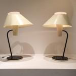 Rare paire de lampes de Jean-Boris Lacroix