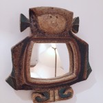 Miroir anthropomorphe en céramique des Argonautes