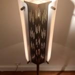 Lampadaire en métal ajouré et perspex de Arlus