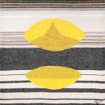 Tapisserie « Graphisme jaune gris » de Danièle Raimbault-Saerens