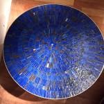 Table basse en mosaïque de pâte de verre de Berthold Muller, vers 1960