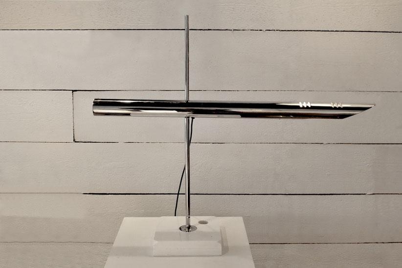 lampe de bureau chrom e des ann es 70. Black Bedroom Furniture Sets. Home Design Ideas