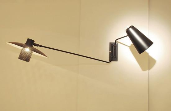 applique double bras de jacques biny edition luminalite. Black Bedroom Furniture Sets. Home Design Ideas
