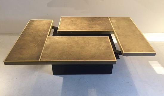 25ed5ee8b14b31 Table Basse à système en Laiton