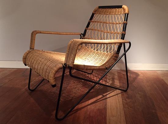 fauteuil en rotin de raoul guys pour airborne. Black Bedroom Furniture Sets. Home Design Ideas