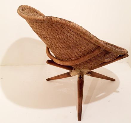 fauteuil en rotin de joseph andre motte. Black Bedroom Furniture Sets. Home Design Ideas